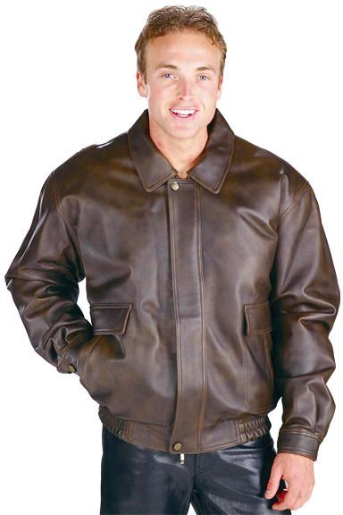 Classic Aviator Brown Bomber Men's Jacket - Star Spangled 1776