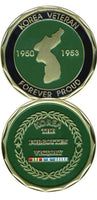 Korea - The Forgotten Victory Military Challenge Coin