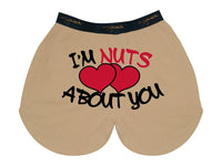 I'm Nuts About You Boxer- MySack Cotton Blend Boxer
