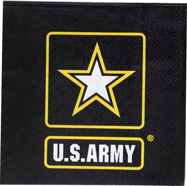 U.S. Army 16-Pack Beverage Napkins