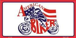 American Biker 6 X 12 Metal Motorcycle License Plate