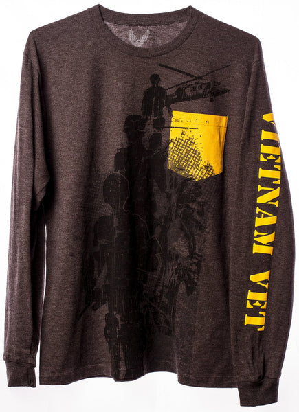 Vietnam Veteran Long Sleeve Pocket T-Shirt with Troop Graphic - Star Spangled LLC