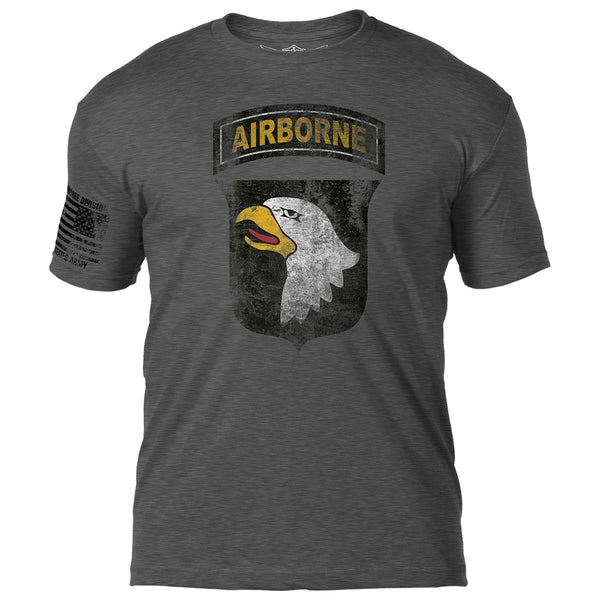 Army 101st Airborne Distressed T-Shirt- 7.62 Design Army Tee Shirt