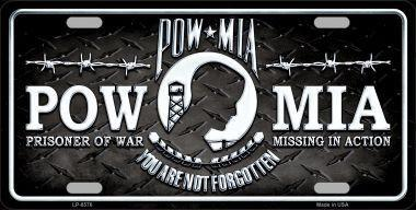 "POW MIA 6"" x 12"" Metal License Plate"