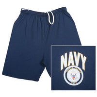 Navy Military Branch Running Shorts - Star Spangled 1776
