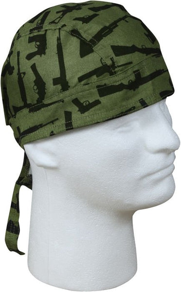 Gun Pattern Cotton Bandanna Headwrap
