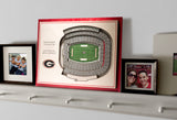Georgia Bulldogs 5-Layer Stadium View 3D Wall Art- Sanford Stadium
