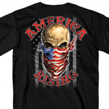 America Rising 100% Cotton Black T-Shirt