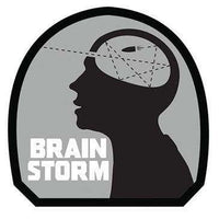 Brain Storm Embroidered Morale Hook Back Patch