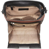 Cinnamon and Black Slim Cross Body Concealed Carry Bag