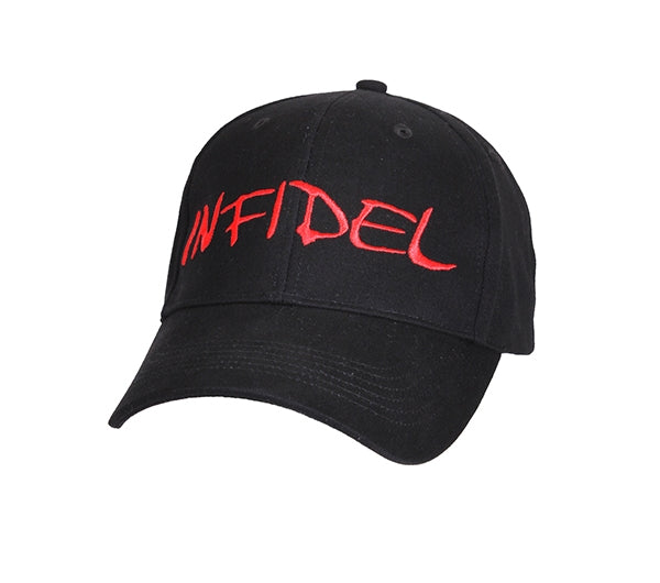 Infidel Deluxe Low Profile Embroidered Baseball Cap- Black - Star Spangled LLC