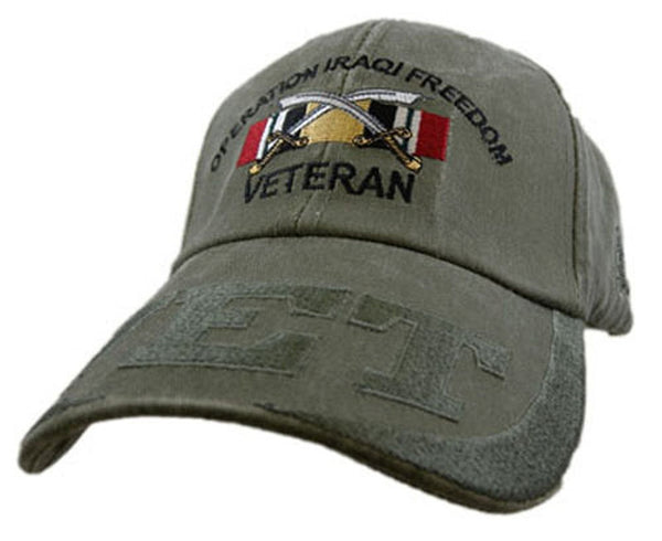 Operation Iraqi Freedom (OIF) Veteran Embroidered Military Baseball Cap - Star Spangled LLC