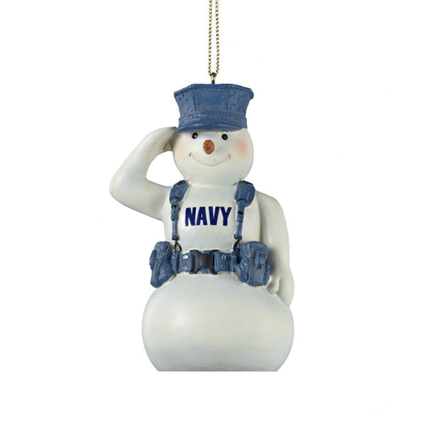 U.S. Navy Saluting Snowman Military Ornament - Star Spangled LLC