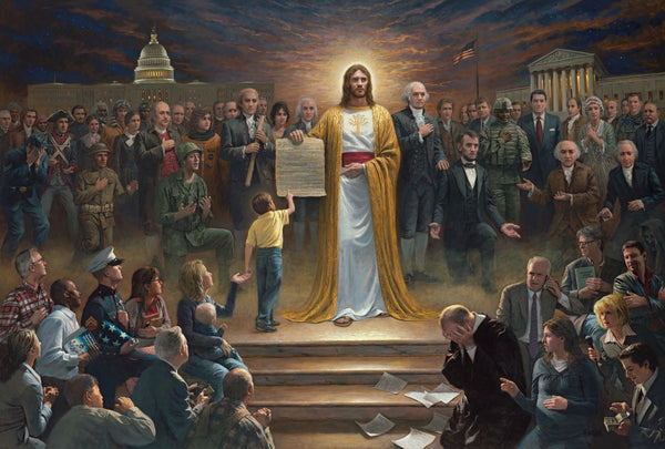 One Nation Under God Framed Art Print by Jon McNaughton - Star Spangled LLC
