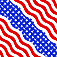 Wavy American Flag Medium Weight Cotton Bandanna