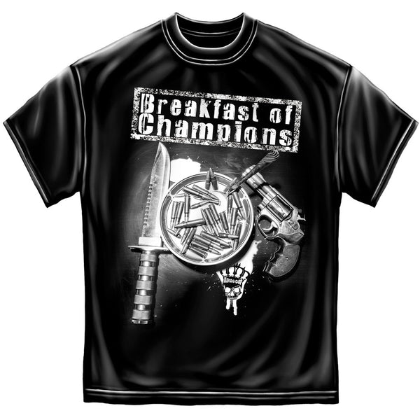 Breakfast Of Champions T-Shirt- 2nd Amendment Men's Tee Shirt