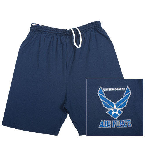 Air Force Military Branch Running Shorts- Blue