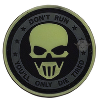 Don't Run Ghost- Glow in the Dark 5ive Star PVC Morale Patch - Star Spangled 1776
