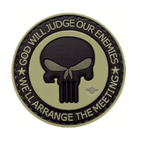 Punisher Enemies Tan and Black With Glow Eyes 5ive Star PVC Morale Patch - Star Spangled 1776