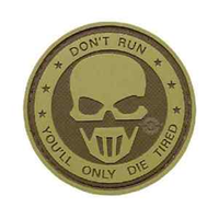Don't Run- Ghost 5ive Star PVC Morale Patch - Star Spangled 1776