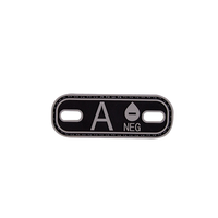 A- Blood Type SWAT Black PVC Patch