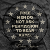 Women's Free Men Do Not Ask Permission T-Shirt- Ranger Up 2nd Amendment Grey Tee - Star Spangled LLC