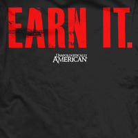 Earn It T-Shirt- Ranger Up Men's Black Patriotic Tee Shirt - Star Spangled LLC