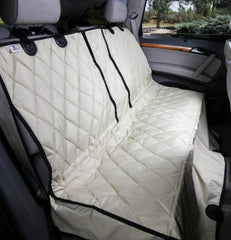 Tan Split Rear Seat Cover with Hammock