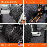 Split Rear Seat Cover with Hammock Infographic
