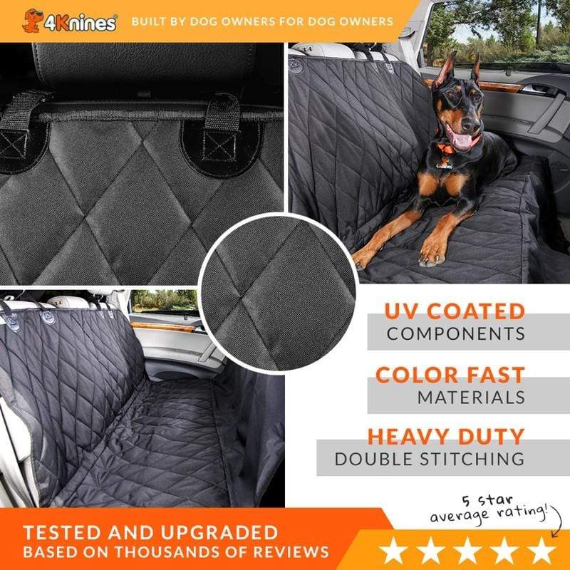 Split Rear Back Seat Cover - Black Regular Fitted - Non Hammock option