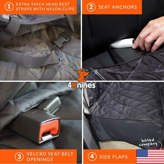 Rear Seat Cover without Hammock for Cars, Trucks, and SUVs (Fitted)