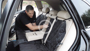 Install your Split Rear Seat Cover