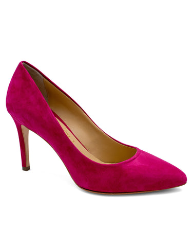 Pumps in Suede Fuchsia | Pumps | Lea-Gu | CrossChic.com