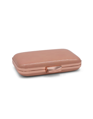 PIPPA Crinkle Patent Pod Rosa | Clutches | Olga Berg | CrossChic.com