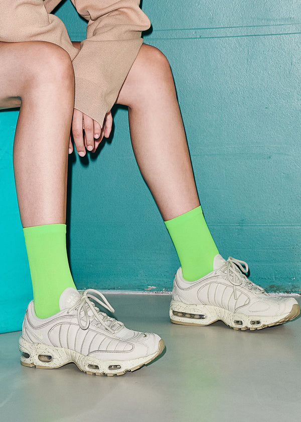 Line Eco Socks - Neon Green