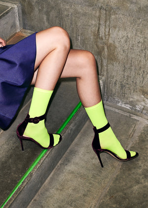 Line Eco Socks - Neon Yellow