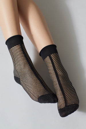 Hedvig Herringbone Black