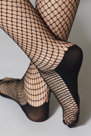 Henriette Fishnet Knee-Highs