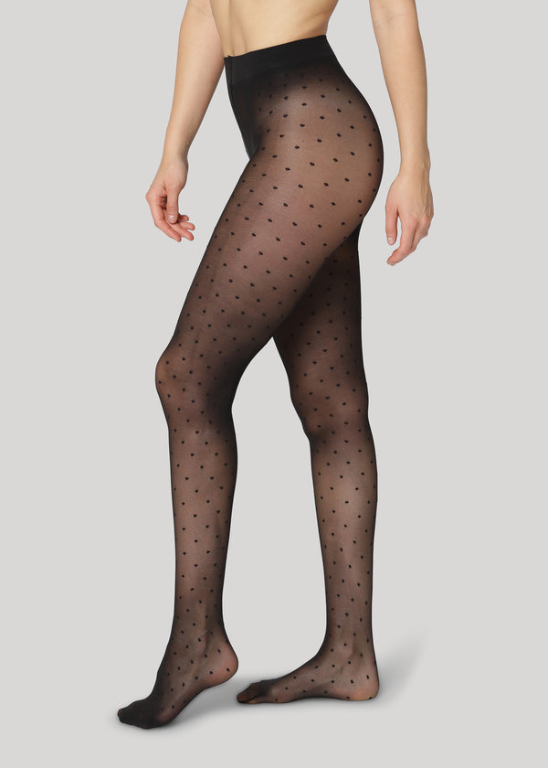 Pernille Dots 20 denier - Black