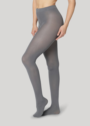 The Rebecca 50 denier in Grey is the classical medium coverage tights made using only recycled materials and 3D knitting technology for durability and longevity.