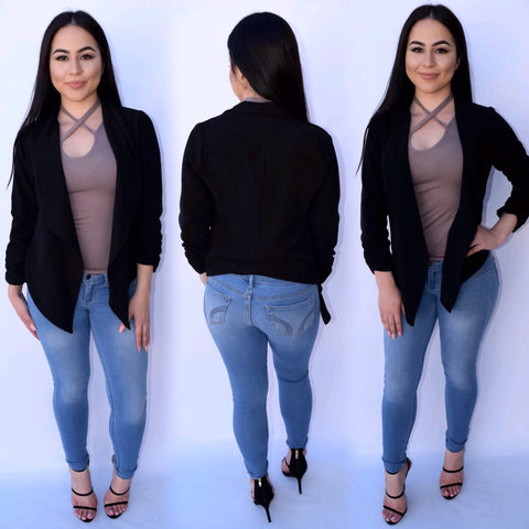 Blazer - Black (Plus Size)