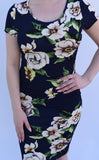 Turning Point Floral Dress - Navy - Small