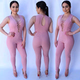 Desirable Jumpsuit - Blush