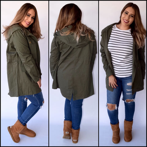Amistad Jacket - Olive - Small