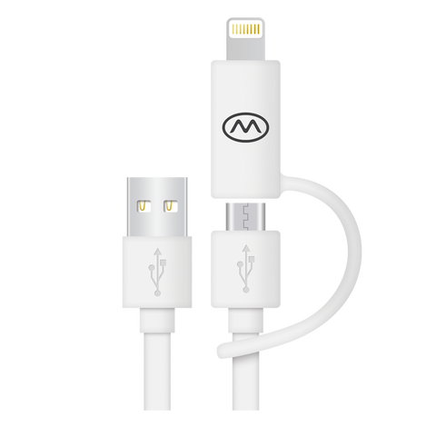 MiiKey MiiWire 2 and 3 Pack - Apple Certified MFI- 6 ft long Lightning & Micro USB Cable