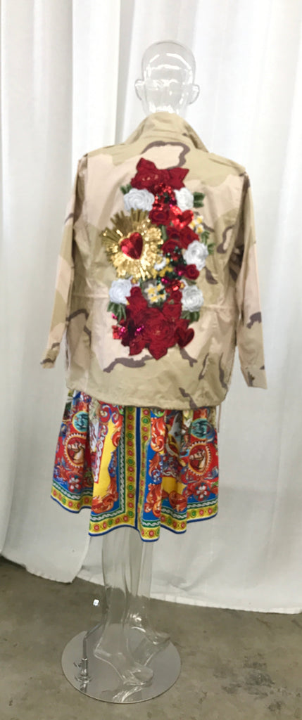 Unique embroidered jacket