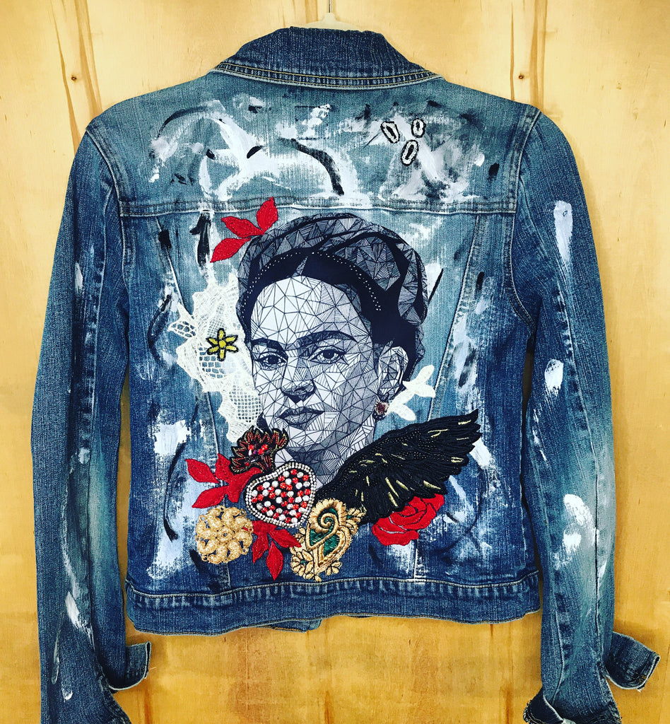 Frida bespoke hand painted Jacket