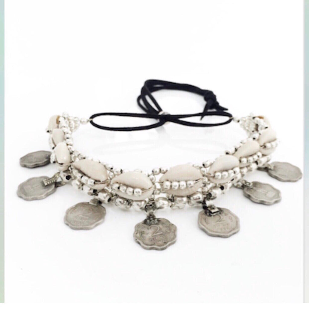 COWRI and coins Choker/Necklace