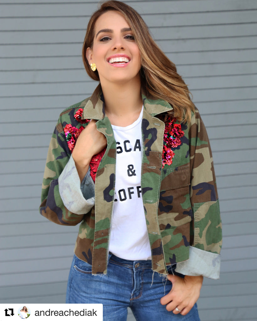 NEW Vintage Dolce Camo Jacket.