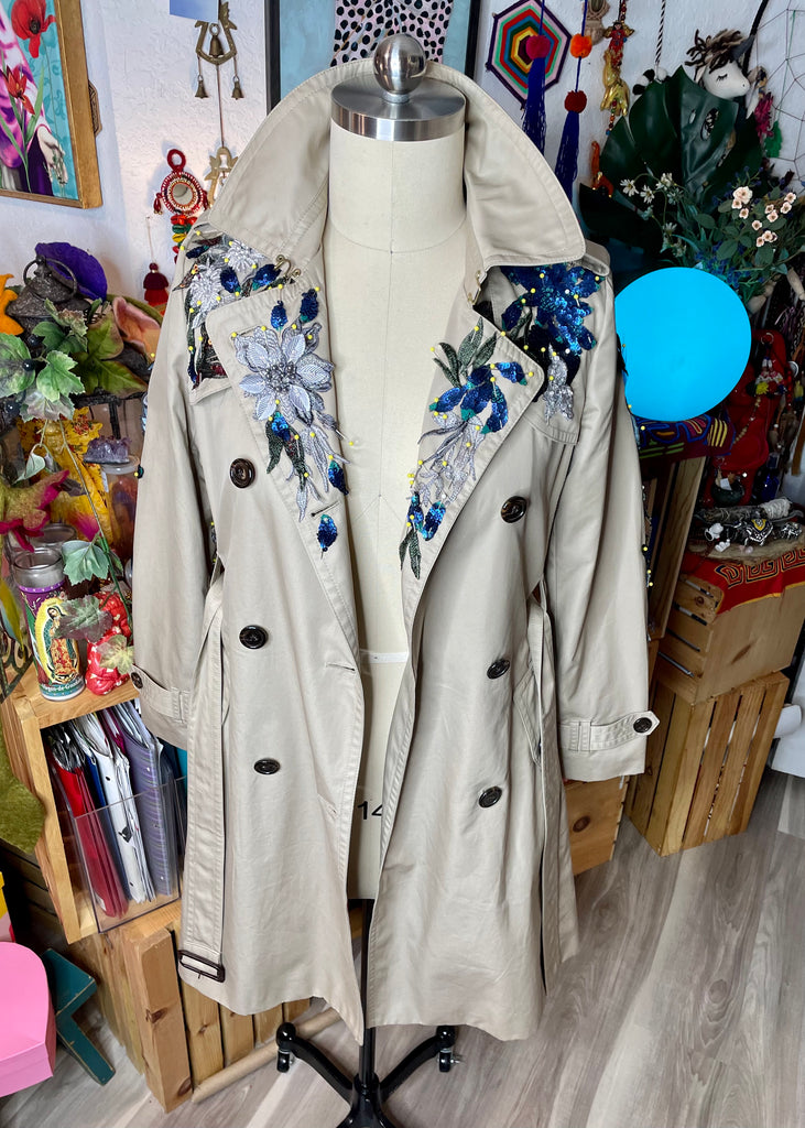 Blue Dragons Trench Coat/ Long Jacket